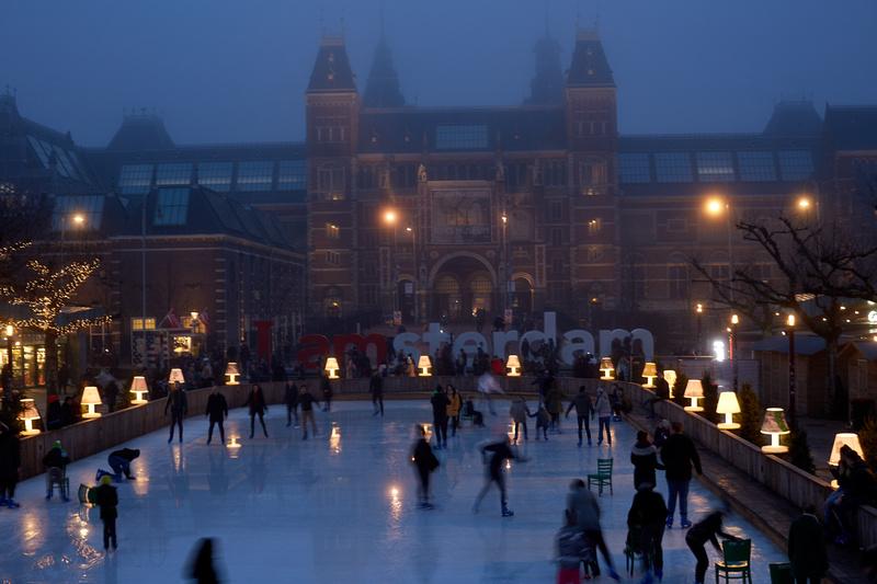 Rijksmuseum and Skating