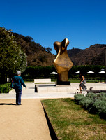 Susan, Henry Moore, and passerby